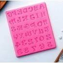 """Молд силиконовый 12 х10 х0,5 см """"Цифры и английский алфавит"""" 2389083"""