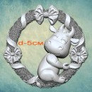 """Молд """"Венок с бычком"""" (S) ARTMD1323"""