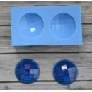 Молд набор круглых кабошонов с гранями 20х20мм ARTMKB014