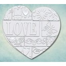 "Молд ""Лоскутное сердце LOVE"" большое ARTMD0762"