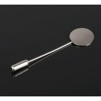 Основа для булавки L=5 см, площадка 1,5см (набор 5шт), цвет серебро 2328123