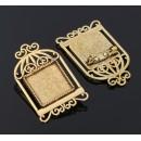 Основа для броши (набор 2шт), площадка 20*20мм, 1507964, цвет черненое золото