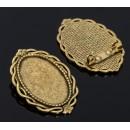 Основа для броши (набор 2шт), площадка 20*30мм, Х091, цвет черненое золото