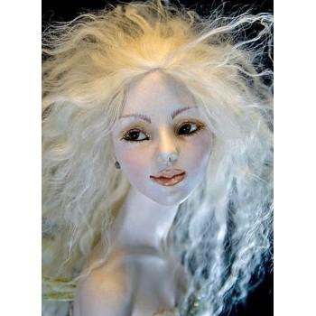 Волосы для кукол натуральные цвет: белый холодный
