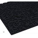 """Коврик рельефный, текстурный коврик 25х18х0,5 см """"Фигаро"""", цвет черный 1403968"""