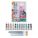 Краски масляные, 12 цветов, в пластиковой тубе, 12 мл, в картонной коробке, 4 кисти, палитра 1404027