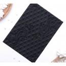 """Коврик рельефный, текстурный коврик 25х18,5 см """"Перфекто"""", цвет черный 2389467"""