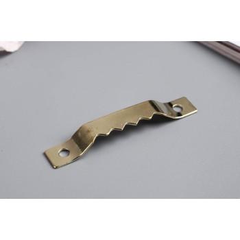 Зубчатая подвеска для картин, фоторамок металл золото 4х0,5 см 2757309