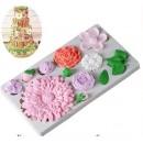 """Молд силиконовый 25×10 см """"Цветы"""", профессиональный 3803736"""