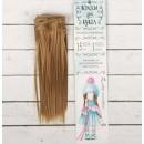 Волосы - тресс для кукол «Прямые» длина волос: 15 см, ширина:100 см, цвет № 22Т 2294874