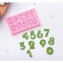 """Молд силиконовый 7,5×4,5 см """"Цифры со звёздами"""" 2581417"""