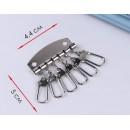 Карабин для ключницы, 44 × 50 мм, цвет серебряный 3780073