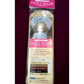 Волосы для кукол белый Rayon Doll Hair