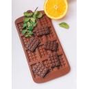 Форма силиконовая «Плитка», 21×11 см, 12 ячеек (2,7×3,9 см), цвет шоколадный 114001