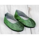 Туфли для куклы «Блёстки», длина стопы: 7 см, цвет зеленый 4258933