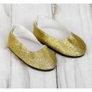 Туфли для куклы «Блёстки», длина стопы: 7 см, цвет золотой 4258935