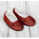 Туфли для куклы «Блёстки», длина стопы: 7 см, цвет красный 4258939