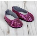 """Туфли для куклы """"Блёстки - кругляши"""", длина стопы: 7 см, цвет фуксия 4258942"""