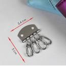 Карабин для ключницы, 34 × 50 мм, цвет серебряный 3780074