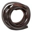Шнур из натуральной кожи 5мм*1м, дизайн №302, 100% кожа  темно-коричневый