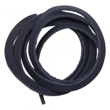 Шнур из натуральной кожи 5мм*1м, дизайн №302, 100% кожа темно-синий