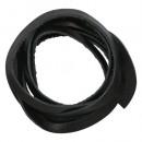 Шнур из натуральной кожи 5мм*1м, дизайн №302, 100% кожа черный