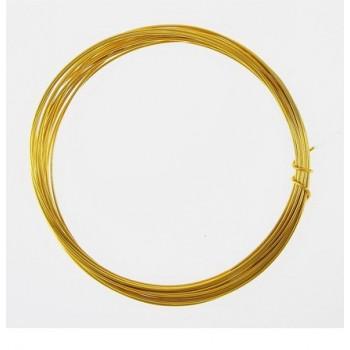 Проволока алюминиевая для поделок и декорирования, 5 м, d=1 мм, цвет золотистый 1078946