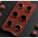 """Форма силиконовая 6 ячеек """"Драгоценные камни"""" 22,5×10,6×3,2 см, 4325809"""