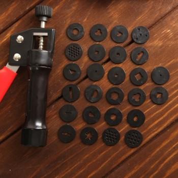 Шприц-пресс кондитерский с насадками 1,7 см, 24 шт 2957155