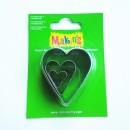 Каттеры для полимерной глины Makins  сердце