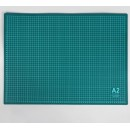 Мат для резки, 60 × 45 см, А2, цвет зелёный