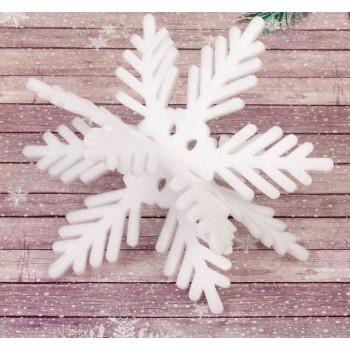 """Основа для творчества и декорирования """"Снежинка 3D"""", 20*20 см, с подвесом (2277657)"""