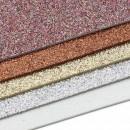 Фоамиран глиттерный набор-микс (5шт), 20x30 см.,толщина 2 мм (7715978)