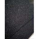 Фоамиран глиттерный на клеевой основе 20x30 см.,толщина 2 мм черный
