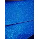 Фоамиран глиттерный на клеевой основе 20x30 см.,толщина 2 мм синий