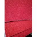 Фоамиран глиттерный на клеевой основе 20x30 см.,толщина 2 мм красный
