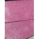 Фоамиран глиттерный на клеевой основе 20x30 см.,толщина 2 мм пудрово-розовый