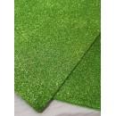 Фоамиран глиттерный светло-зеленый, 20x30 см.,толщина 2 мм (GEVA009)