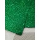 Фоамиран глиттерный зеленый, 20x30 см.,толщина 2 мм (GН005)
