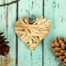 """Основа для творчества и декорирования """"Сердце"""" с подвесом, 6*6 см, цвет бежевый (2299768)"""