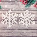 """Основа для творчества и декорирования """"Снежинка №5"""" ,15*15 см, набор 2 шт, с подвесом (2277641)"""
