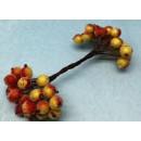 Рябина на ветке в сахаре красно-оранжевый 20 шт.