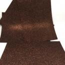 Фоамиран глиттерный коричневый, 20x30 см.,толщина 2 мм (GEVA020)