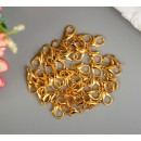 Карабин, Основа для брелока, застежка металл золото 1,2х0,6 см 40 шт 4104915