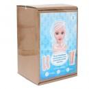 НАБОР №5 Пластиковая заготовка для изготовления куклы: руки,ноги,голова гл.-серо-голуб.