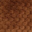 Мех 'Фактурный-СОТЫ' 50см*50см (+/-1,0см), цв.коричневый  25743
