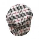 Мини-кепка из текстиля в клетку.  5 см.