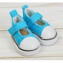 Полукеды для кукол, длина стопы 5 см, цвет голубой  3785827