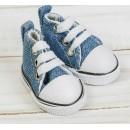 Кеды для кукол, длина стопы 5 см, цвет джинса 3785819