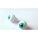 Глазки для кукол,бирюзовые (сфера) 12 мм